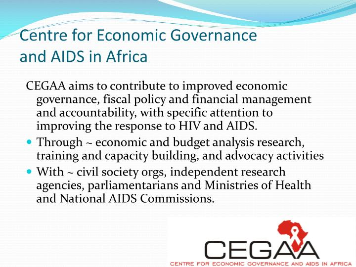 Centre for economic governance and aids in africa