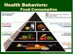health behaviors food consumption