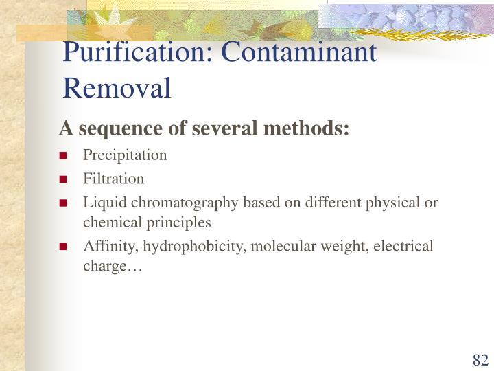 Purification: Contaminant Removal