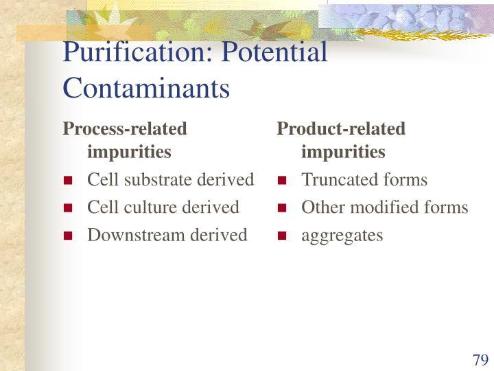 Process-related impurities