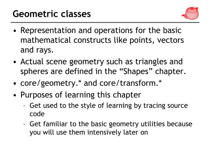 Geometric classes