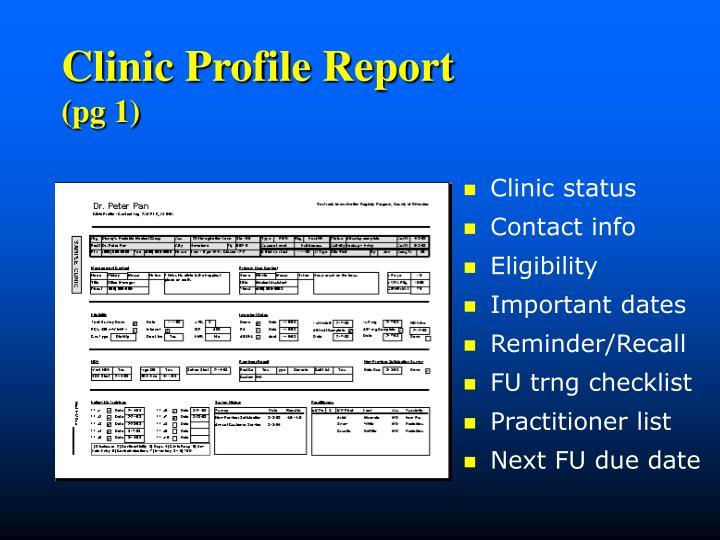 Clinic Profile Report