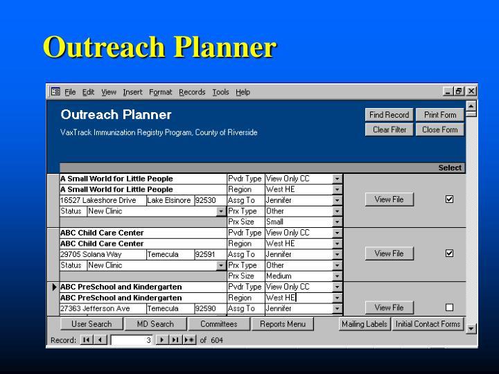 Outreach Planner