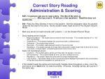 correct story reading administration scoring2