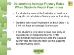 determining average fluency rates when students reach frustration1
