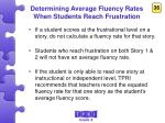 determining average fluency rates when students reach frustration2