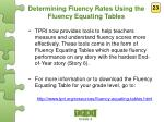 determining fluency rates using the fluency equating tables1