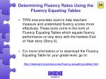 determining fluency rates using the fluency equating tables2
