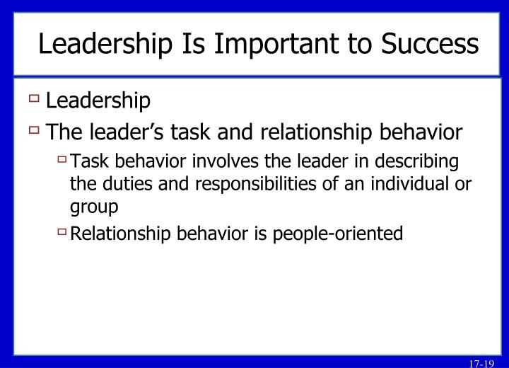 Leadership Is Important to Success