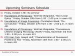 upcoming seminars schedule
