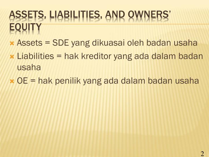 assets and liabilities This overview describes how to read a balance sheet on a financial statement understand a company's assets, liabilities & equity as reported on the balance sheet.