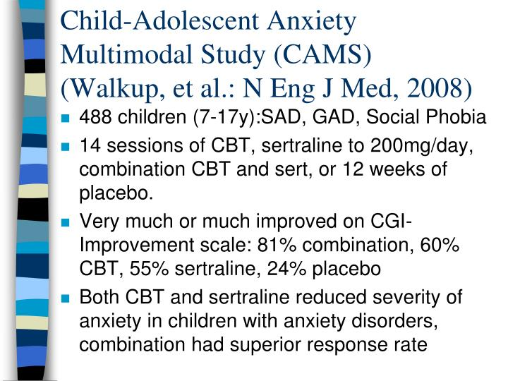 Child-Adolescent Anxiety Multimodal Study (CAMS)