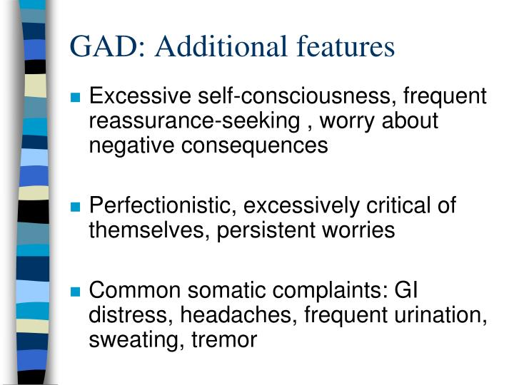 GAD: Additional features