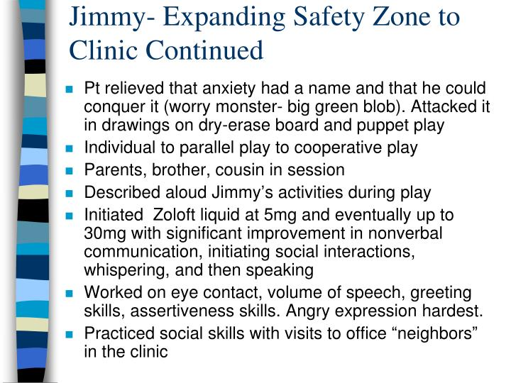 Jimmy- Expanding Safety Zone to Clinic Continued