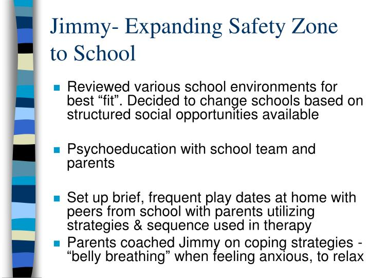 Jimmy- Expanding Safety Zone to School