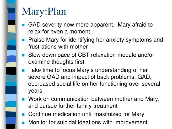 Mary:Plan