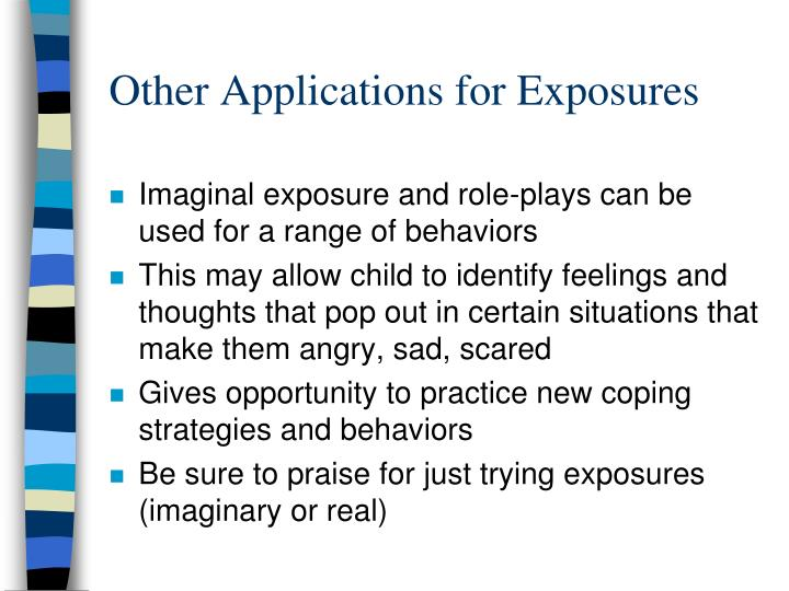 Other Applications for Exposures