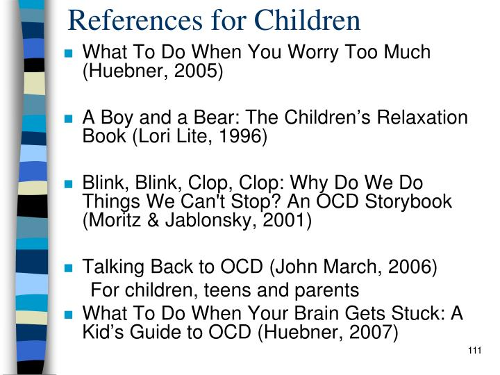 References for Children
