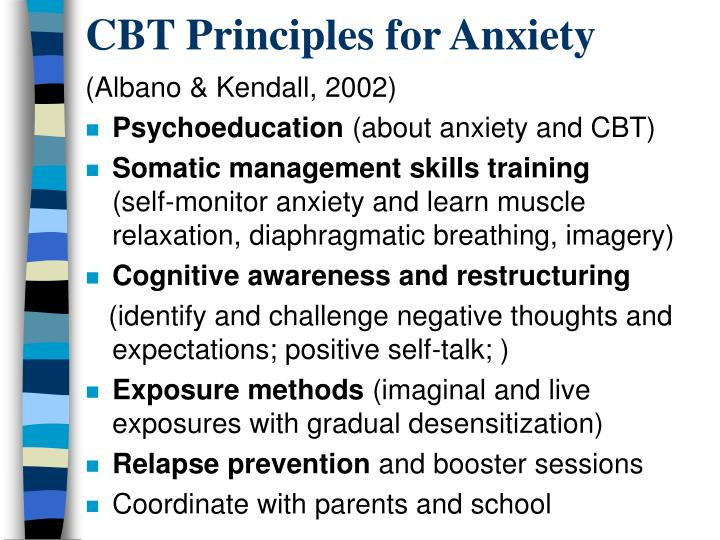 CBT Principles for Anxiety