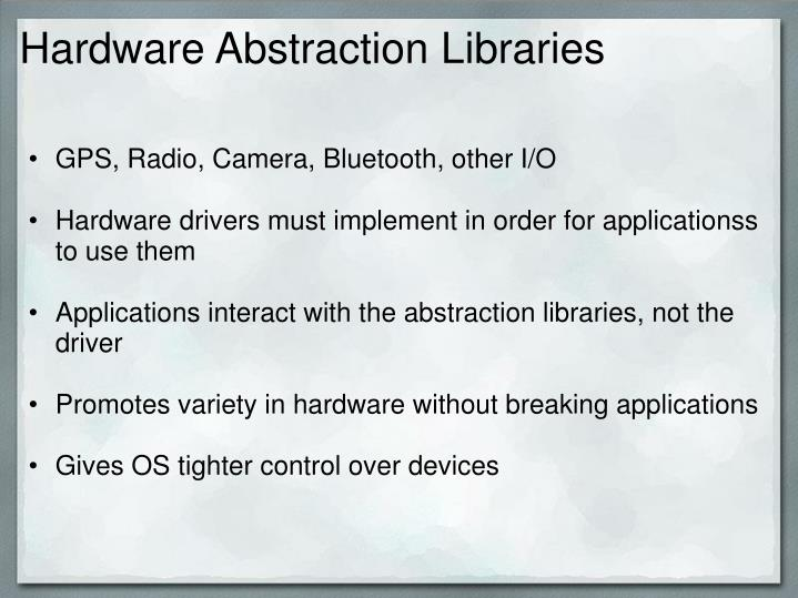 Hardware Abstraction Libraries