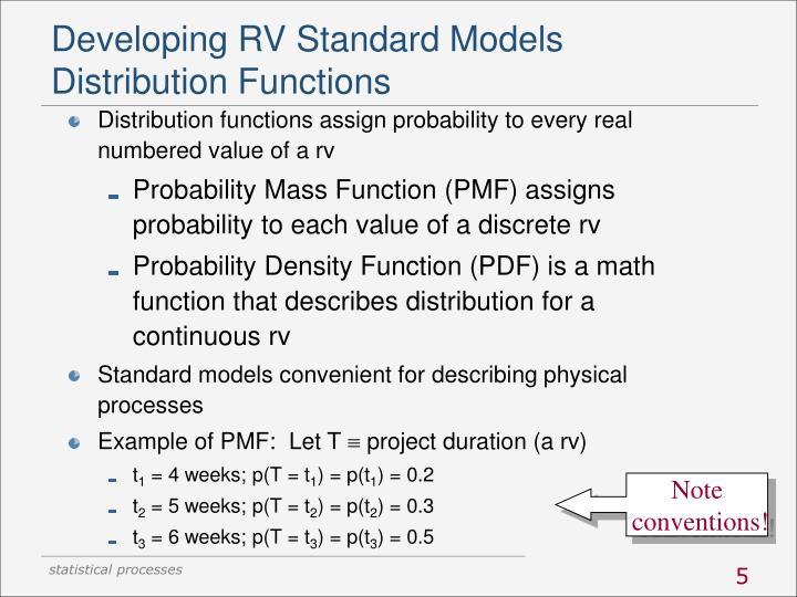 Developing RV Standard Models