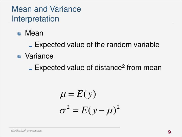 Mean and Variance
