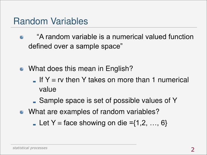 Random variables1