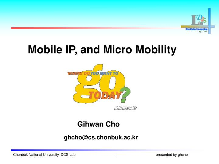 mobile ip and micro mobility n.