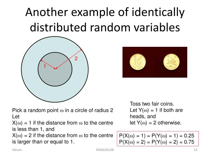 Another example of identically distributed random variables