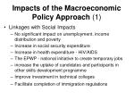 impacts of the macroeconomic policy approach 1
