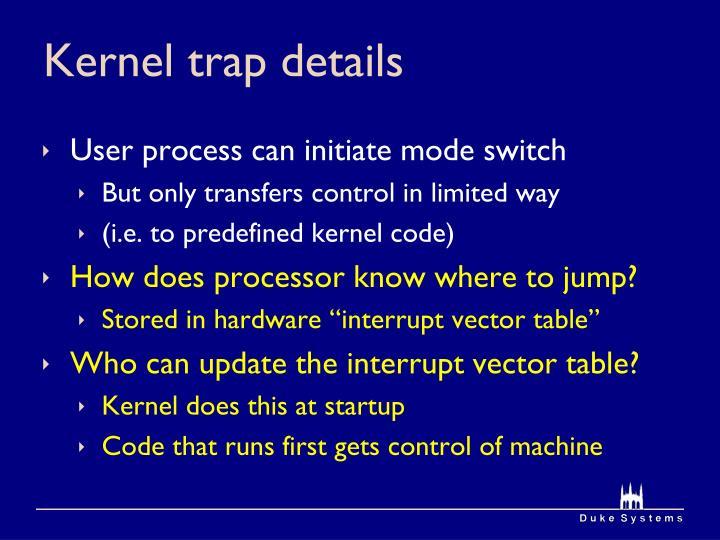 Kernel trap details