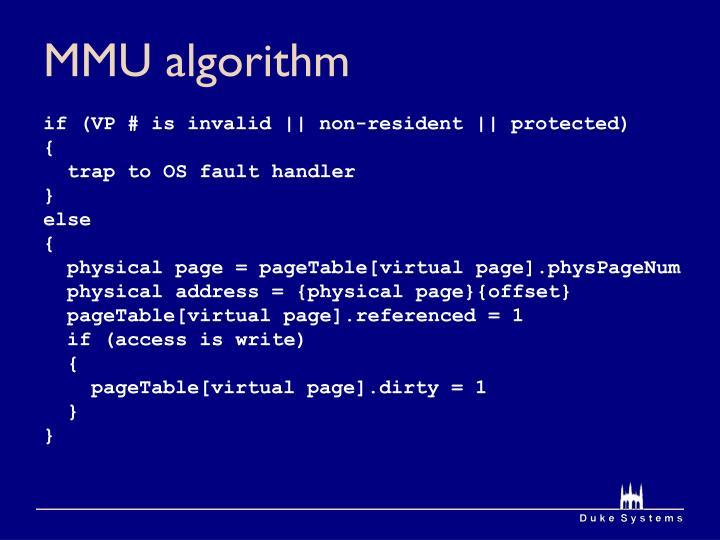 Mmu algorithm