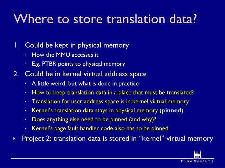 Where to store translation data?