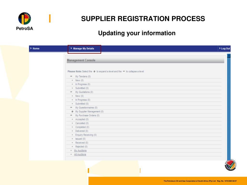 PPT - e-Procurement Supplier Awareness Session PowerPoint