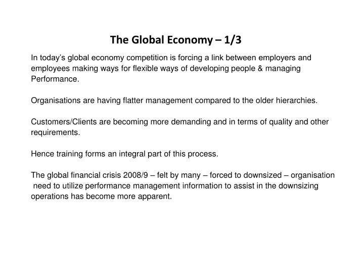 The Global Economy – 1/3