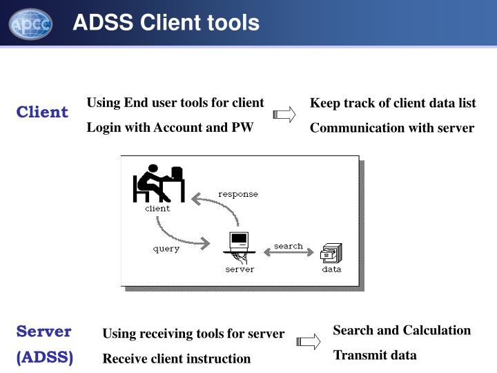 Using End user tools for client