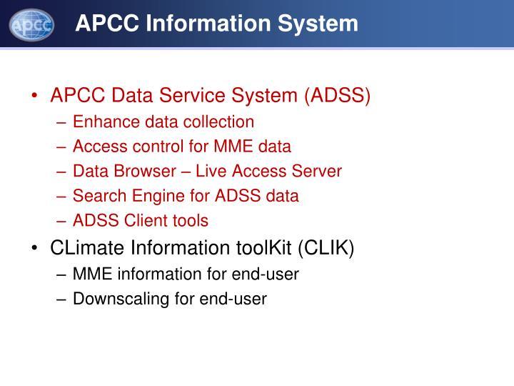 APCC Information System