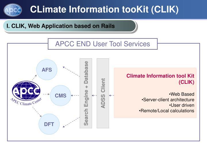 CLimate Information tooKit (CLIK)