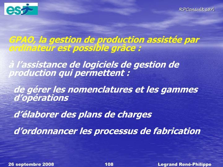 GPAO, la gestion de production