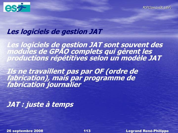 Les logiciels de gestion JAT