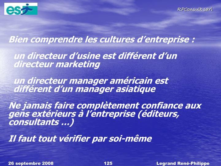 Bien comprendre les cultures d'entreprise :
