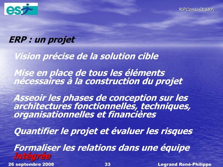 ERP : un projet