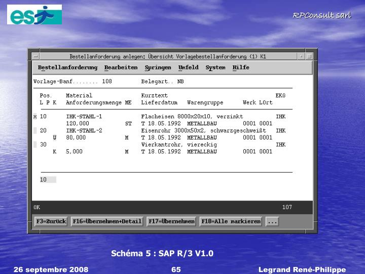 Schéma 5 : SAP R/3 V1.0