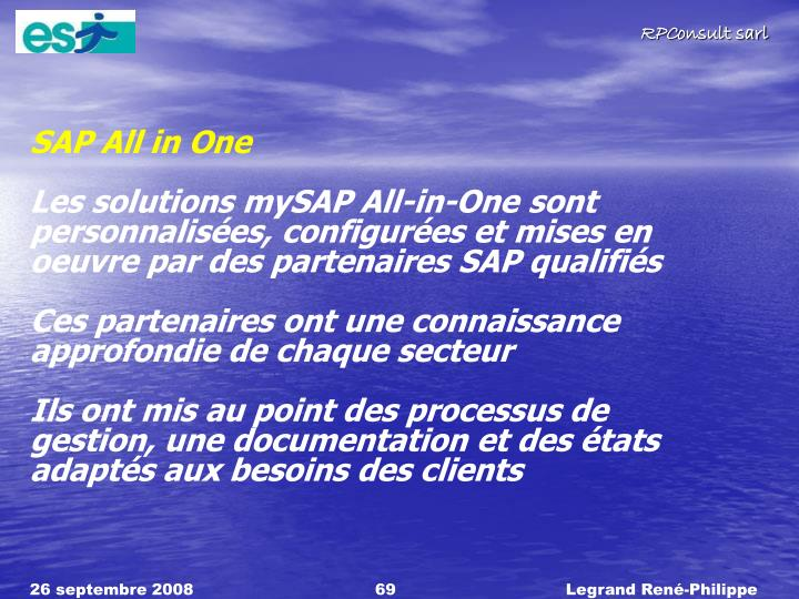 SAP All in One