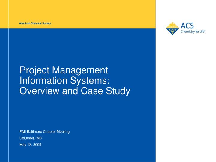 PPT - Project Management Information Systems: Overview and