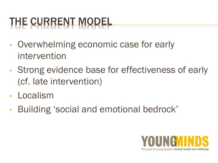 Overwhelming economic case for early intervention