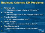 business oriented dm problems