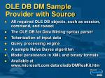 ole db dm sample provider with source