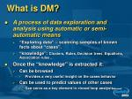 what is dm