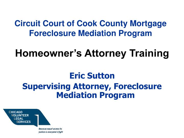 circuit court of cook county mortgage foreclosure mediation program n.